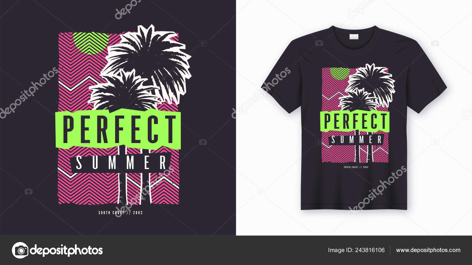 14372d8b2458 Perfect summer. Stylish colorful t-shirt design
