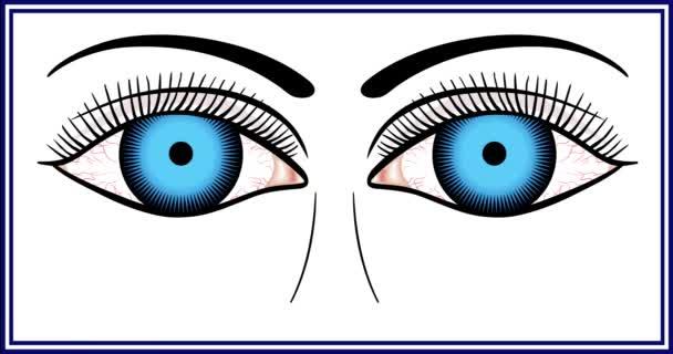 Různé barvy očí (modrá, zelená, oříškovité).
