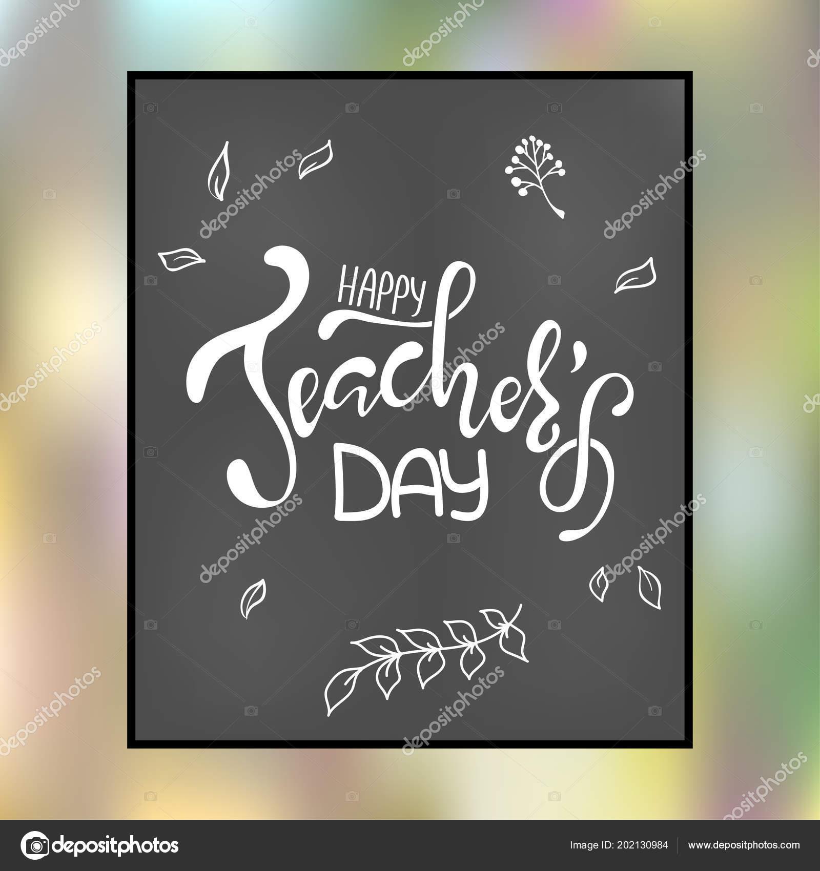 Inscripción Día Del Maestro Feliz Tarjeta Felicitación Con