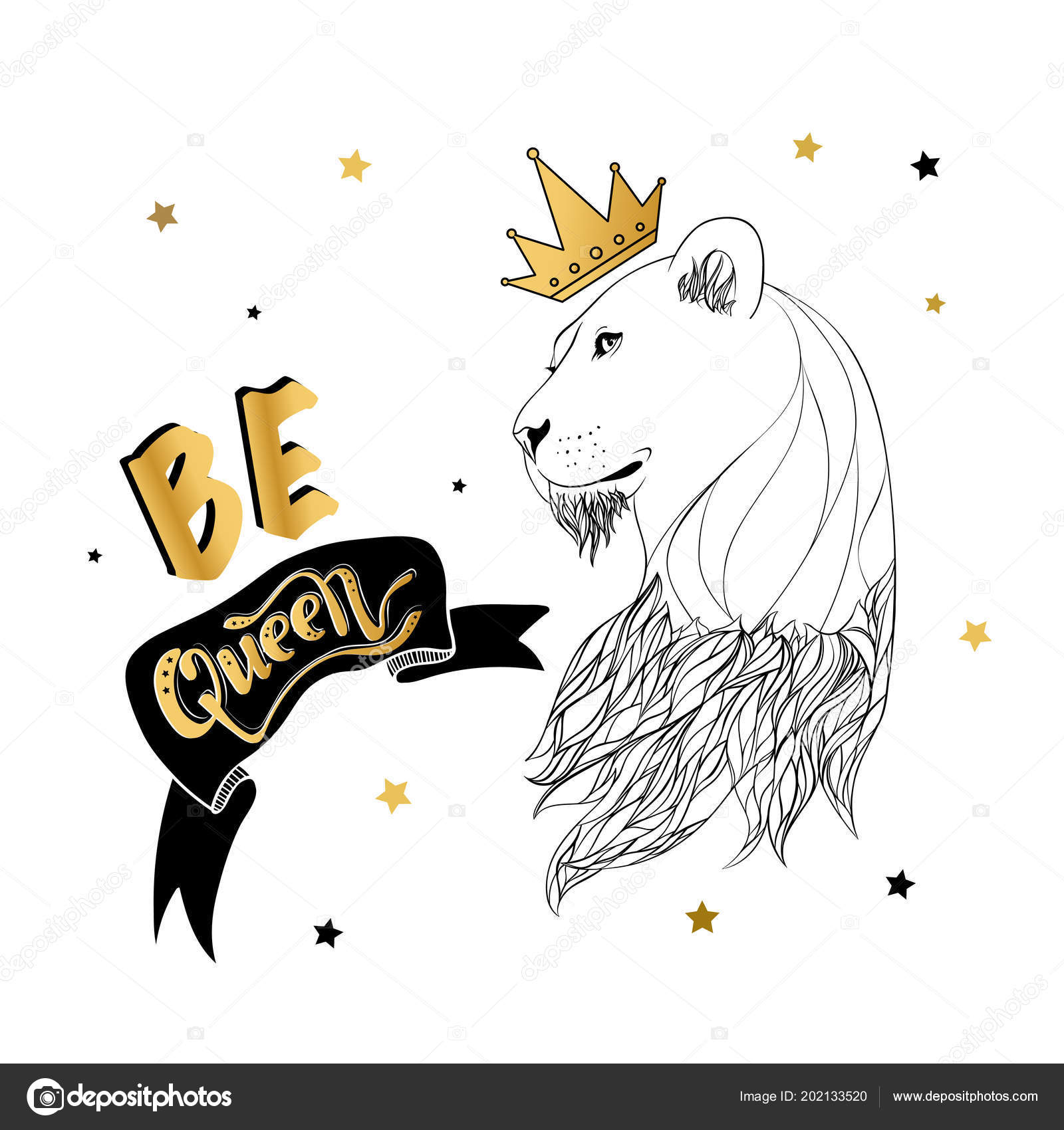 Lioness Art Vector Drawing