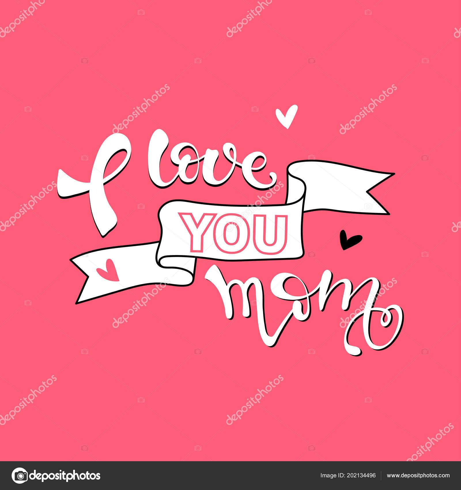 amo tarjeta mamá fondo del día madre dibujado mano tinta archivo