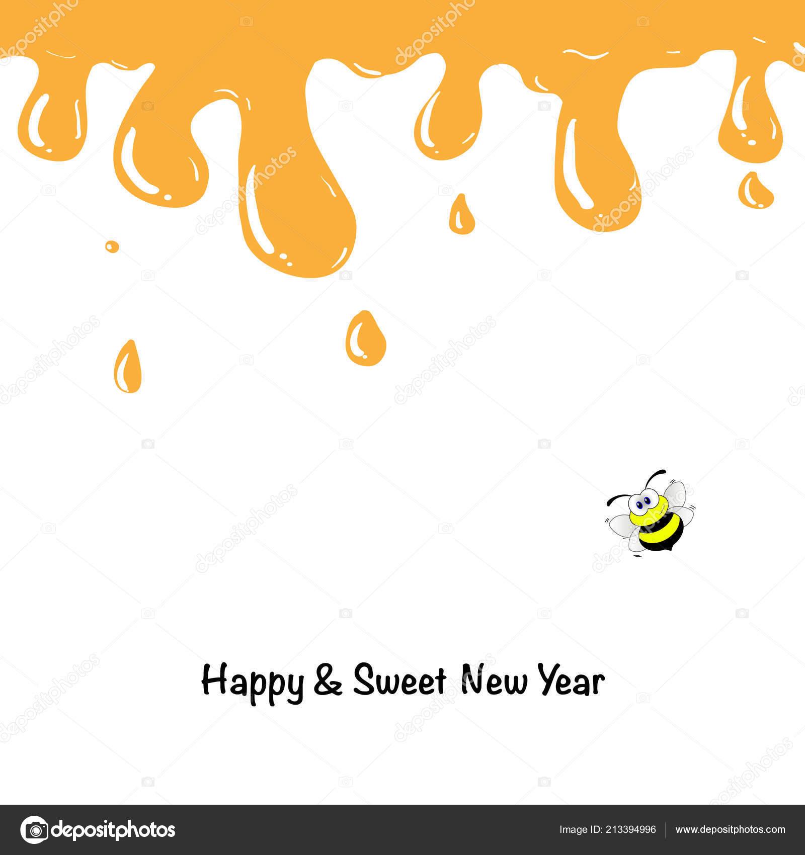 Honey Drips Shana Tova Greetings Rosh Hashanah Card Template