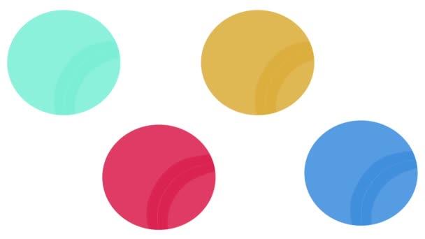 Barevné kruhy s abstraktní vlny, vlnky uvnitř izolované na bílém laďěnou