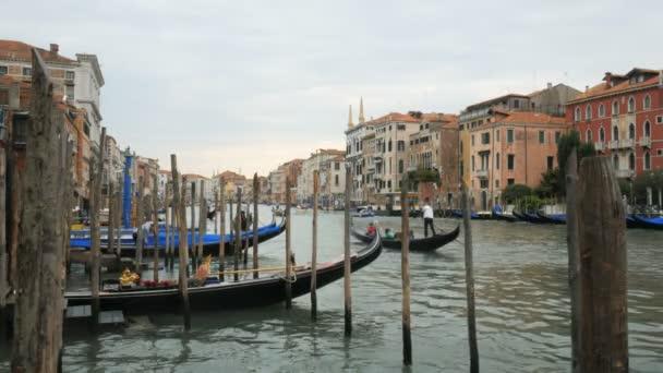 délutáni gondolák kilátás a grand Canal, Velence, Olaszország