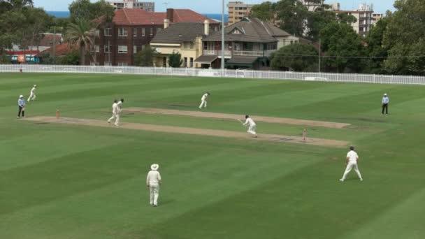 Sydney, Ausztrália - 2016. január 31-ig: széles szög, kilátás a waverly ovális sydney grade szintű krikett mérkőzés