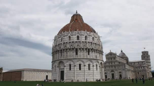 snímek známého Baptisterium v Pise, Itálie