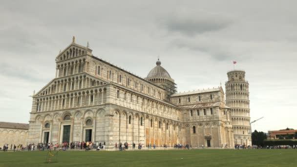 egy széles kilátás nyílik a híres dómtól, Pisa, Olaszország