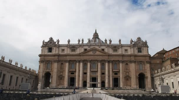 an exterior view of saint peters square in rome, italy