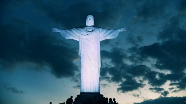 Rio De Janeiro, Brazílie-26, květen 2016: noční záběr soše Krista socha Spasitele v rio de janeiro, Brazílie