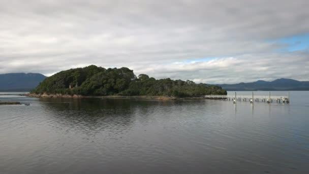 weitsichtweise auf die berüchtigte Sarah-Insel im Macquarie-Hafen