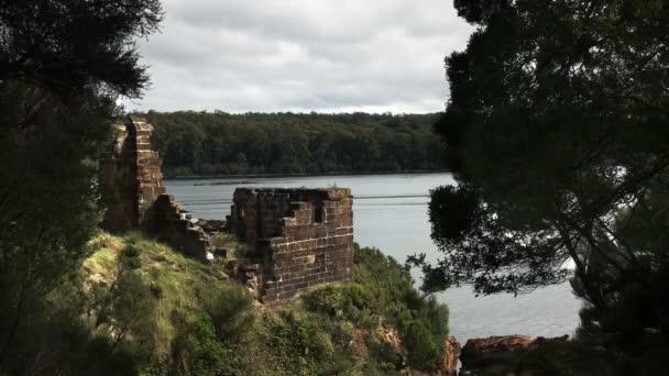 sarah Insel Strafsiedlung Ruinen in Macquarie Hafen, Tasmanien