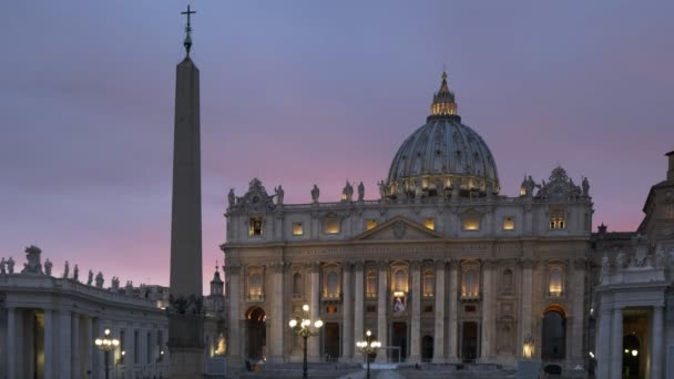 sunset at st peters basilica in vatican city