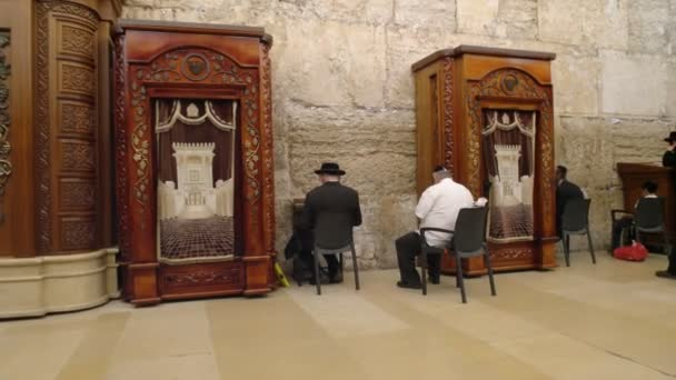 Jeruzsálem, Izrael-szeptember 19, 2016: imaház a nyugati falon Jeruzsálemben