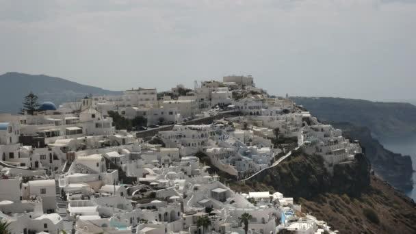 pohled na Firu z Imerovigli na Santoríni