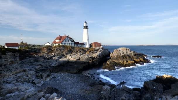 odpolední pohled na maják Alžběty v Portlandu v Maine
