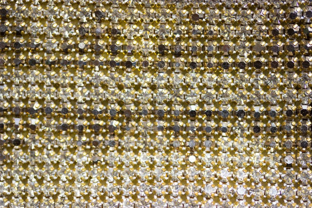 Canvas of crystal rhinestones as a Background