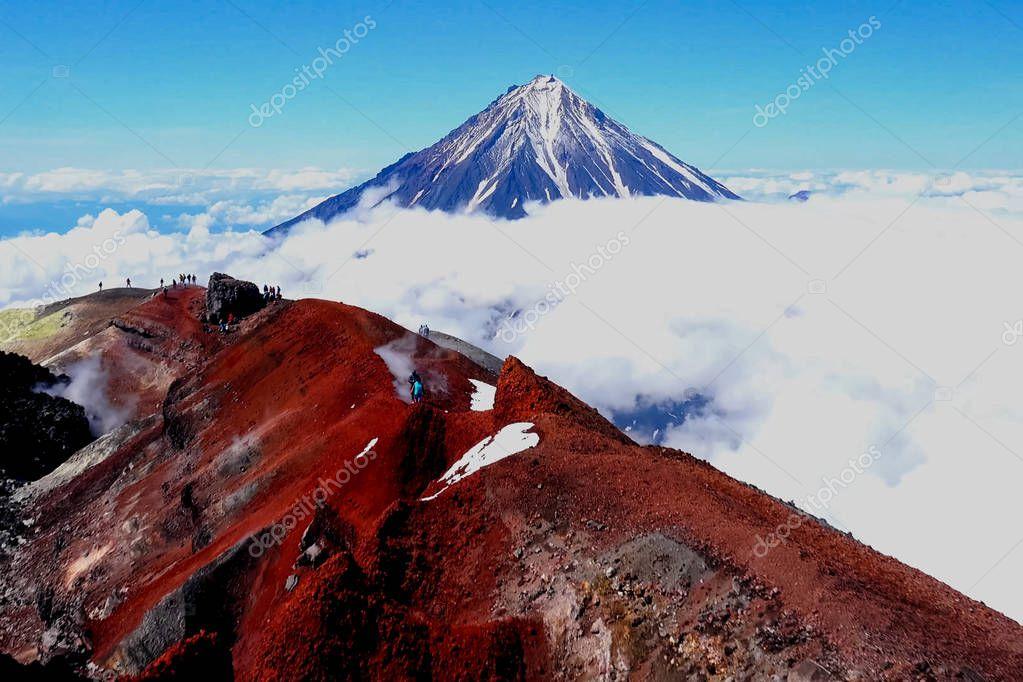 The nature of Kamchatka, the mountains and volcanoes of Kamchatka.