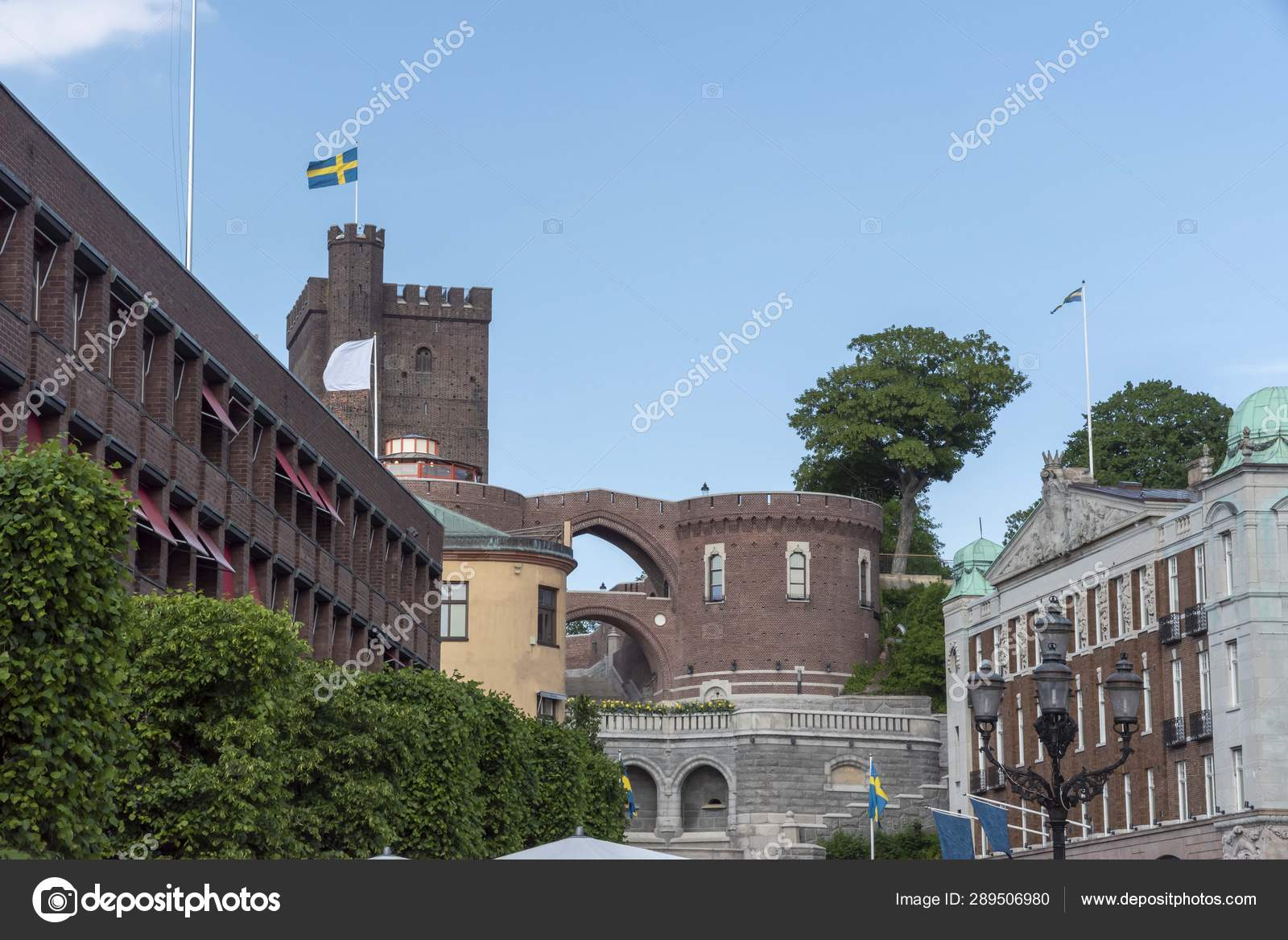 View Stortorget Swedish Town Helsingborg Stock Photo
