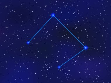 Libra Constellation on cosmos background