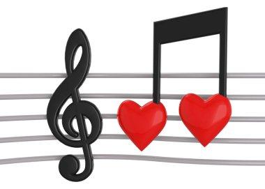 Loving Music - 3d Concept stock vector