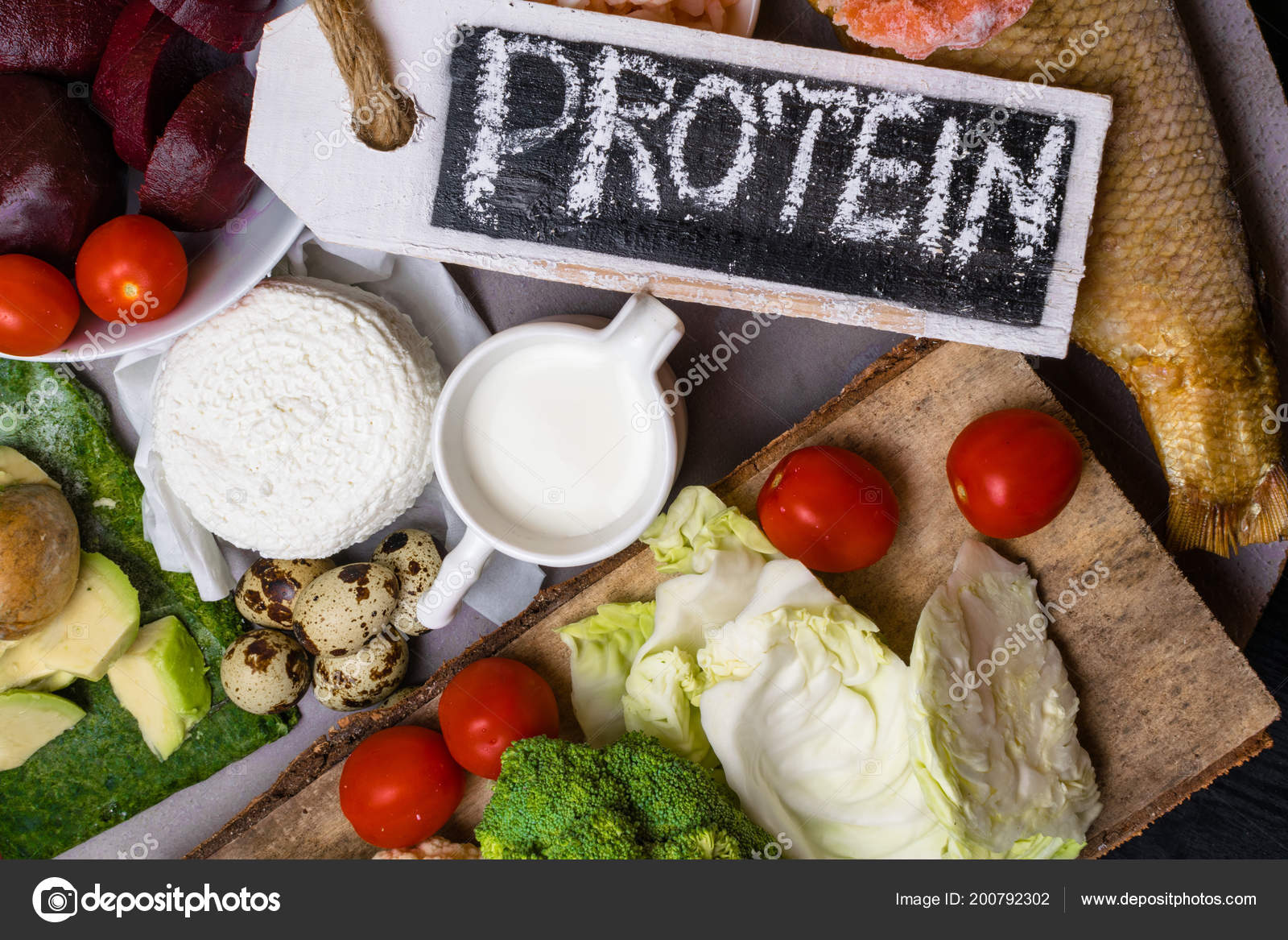 High Protein Food Fish Meat Poultry Nuts Eggs Healthy Eating