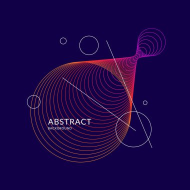 Modern vector abstract background with colored lines.