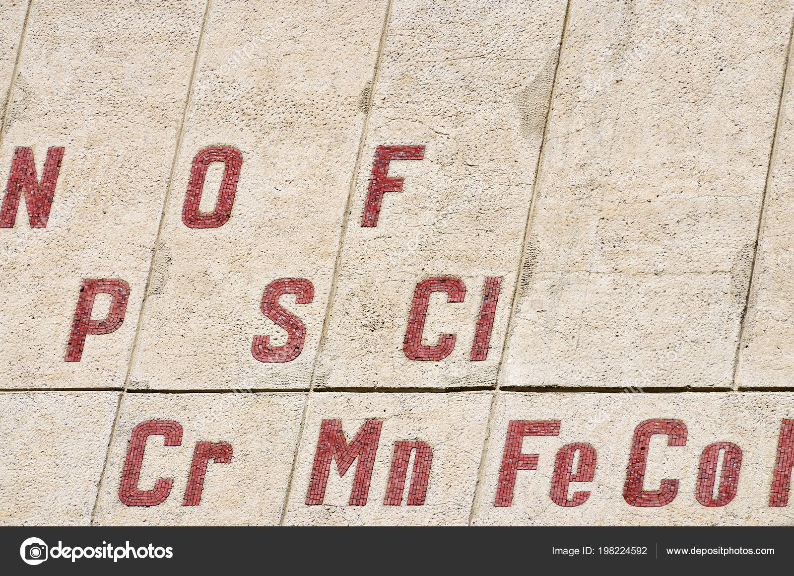 Chemical Elements Periodic Table Mosaics Wall Stock Photo