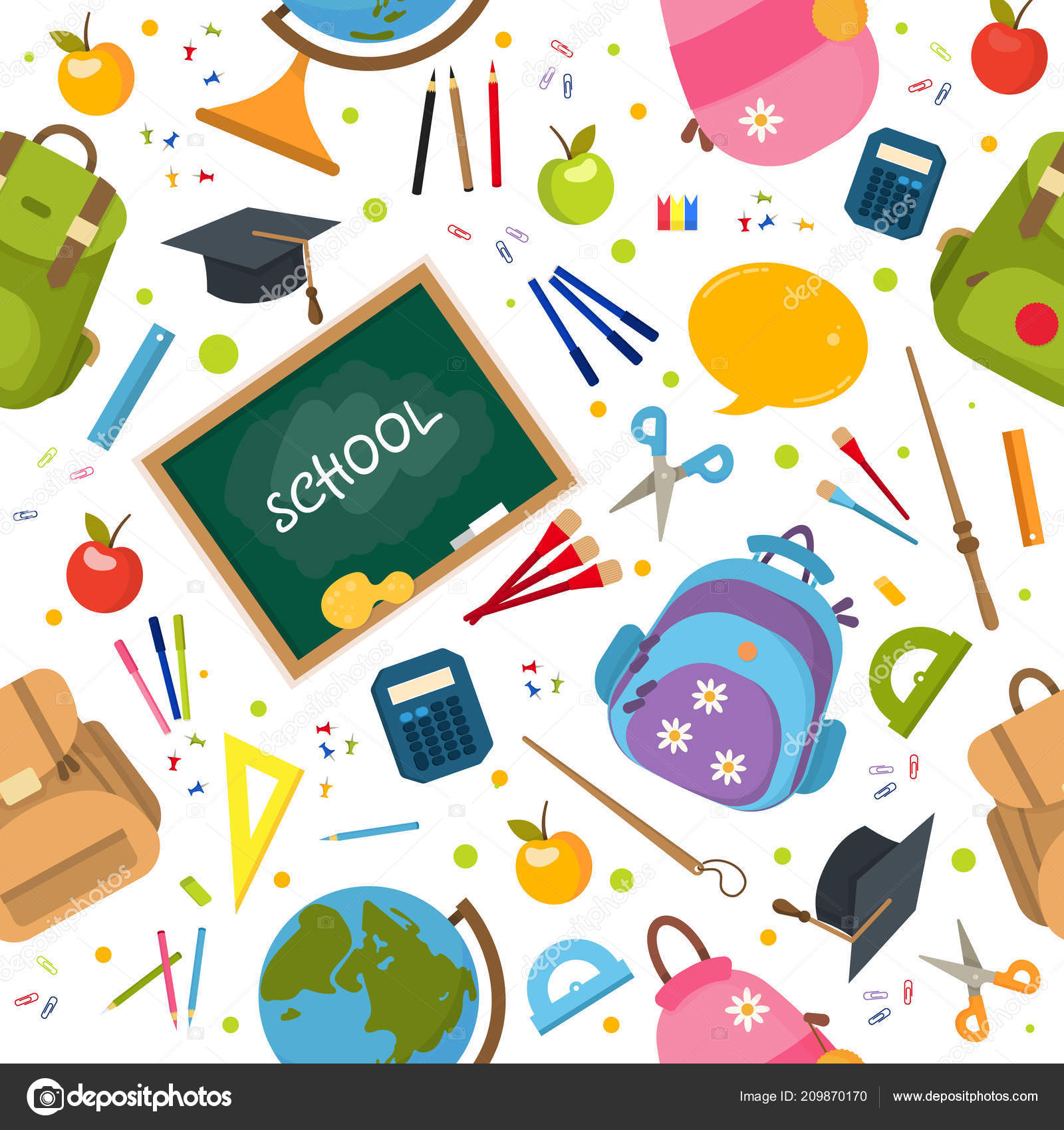 welcome back to school pattern stock vector fantrazy gmail com