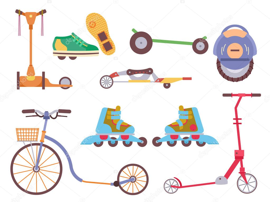 Different urban park activity sport transport