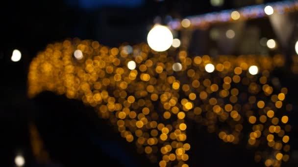 bridge with yellow lanterns and bokeh