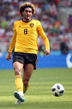 23.06.2018. Moscow, Russian:Marouane Fellaini  in action during the Fifa World Cup Russia 2018, Group C, football match between BELGIUM V TUNISIA  in SPARTAK STADIUM in Moscow Stadium