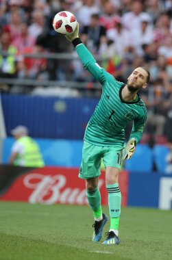 01.07.2018. MOSCOW, Russia:DAVID DE GEA  in action during the Fifa World Cup Russia 2018, Eighths of final football match between SPAIN VS RUSSIA in Luzhniki Stadium in Moscow.
