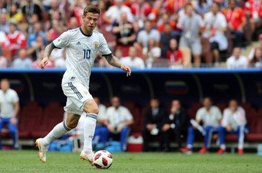 01.07.2018. MOSCOW, Russia: SMOLOV in action during the Fifa World Cup Russia 2018, Eighths of final football match between SPAIN VS RUSSIA in Luzhniki Stadium in Moscow.