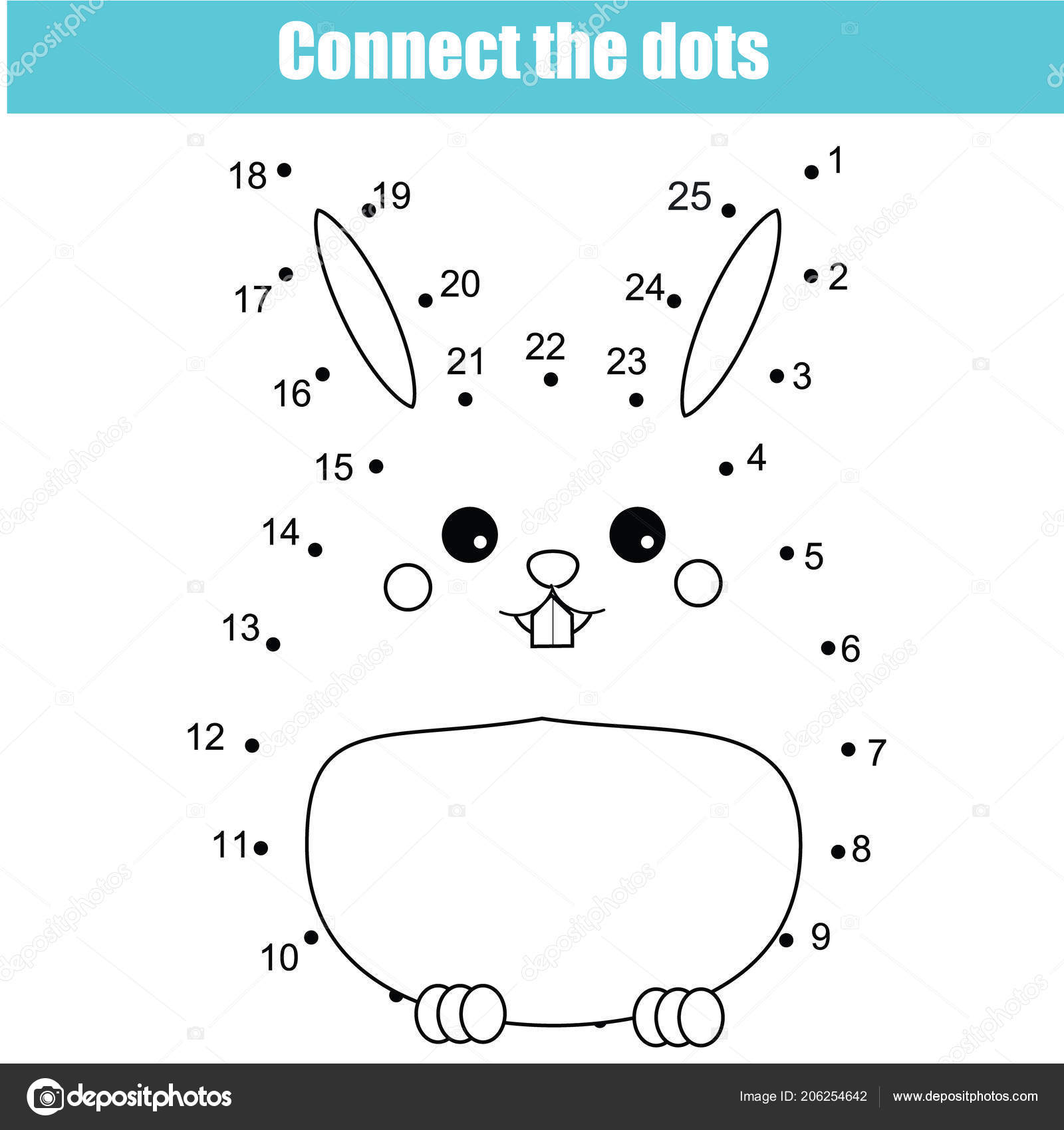 Connect Dots Children Educational Drawing Game Dot Dot Numbers Game