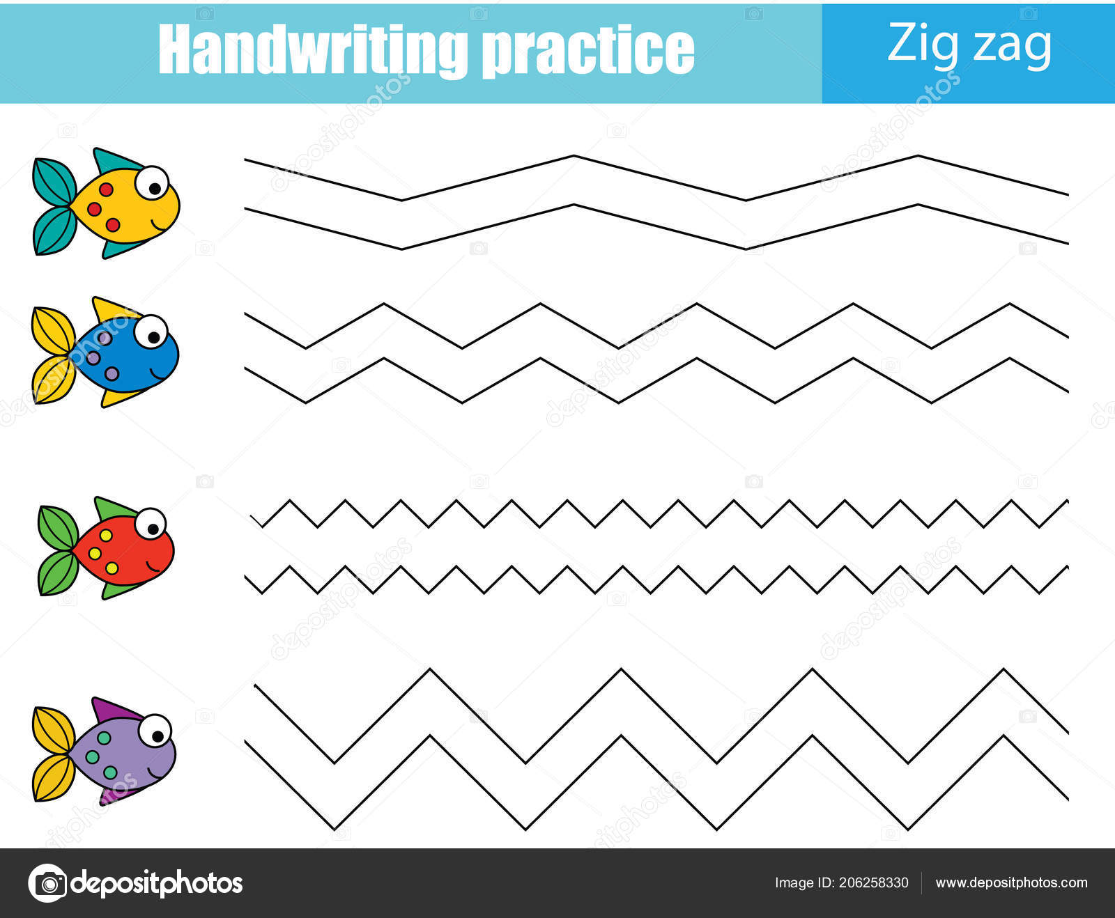 Handwriting Practice Sheet Educational Children Game ...