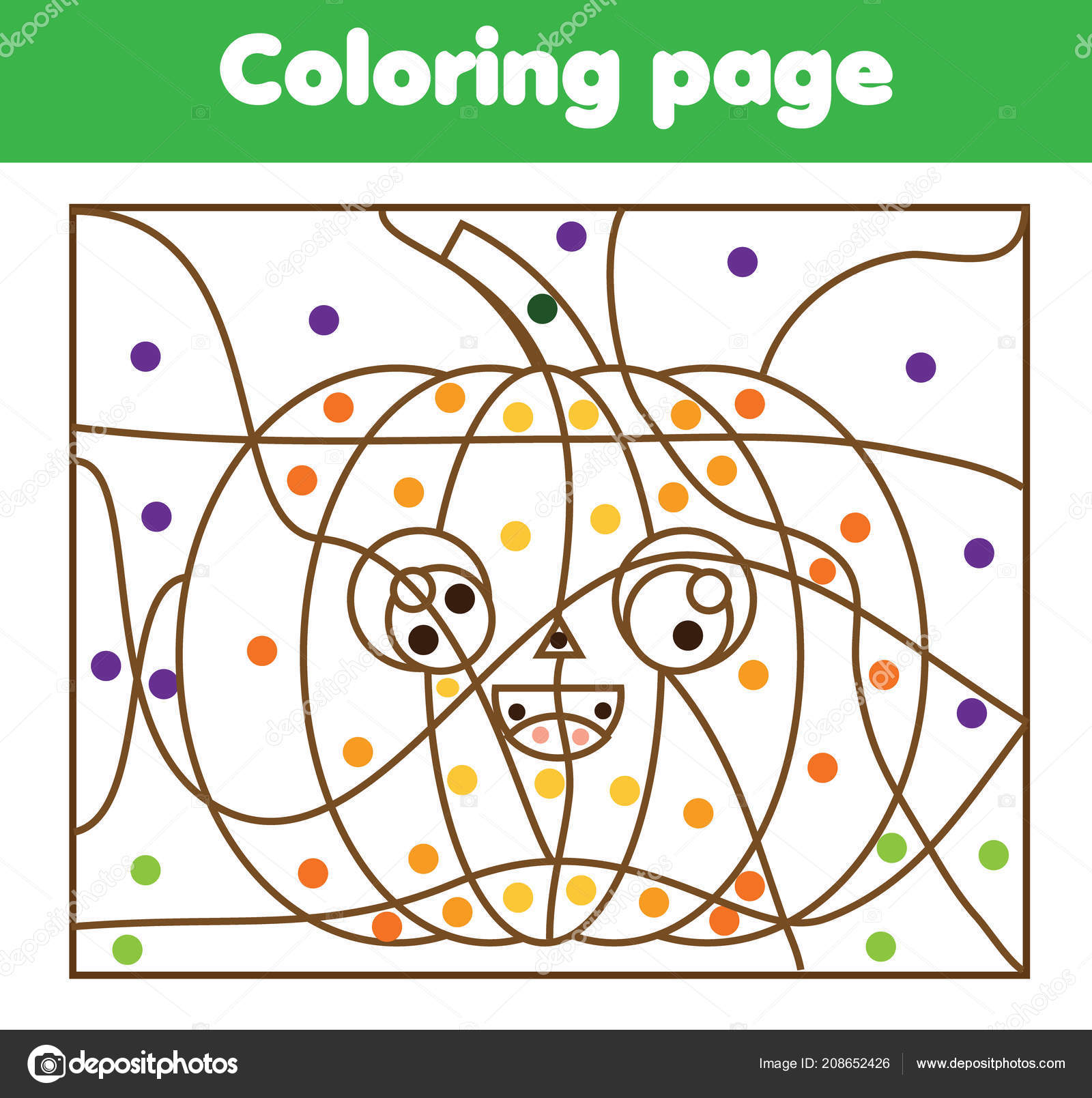 Children Educational Game Coloring Page Cartoon Halloween