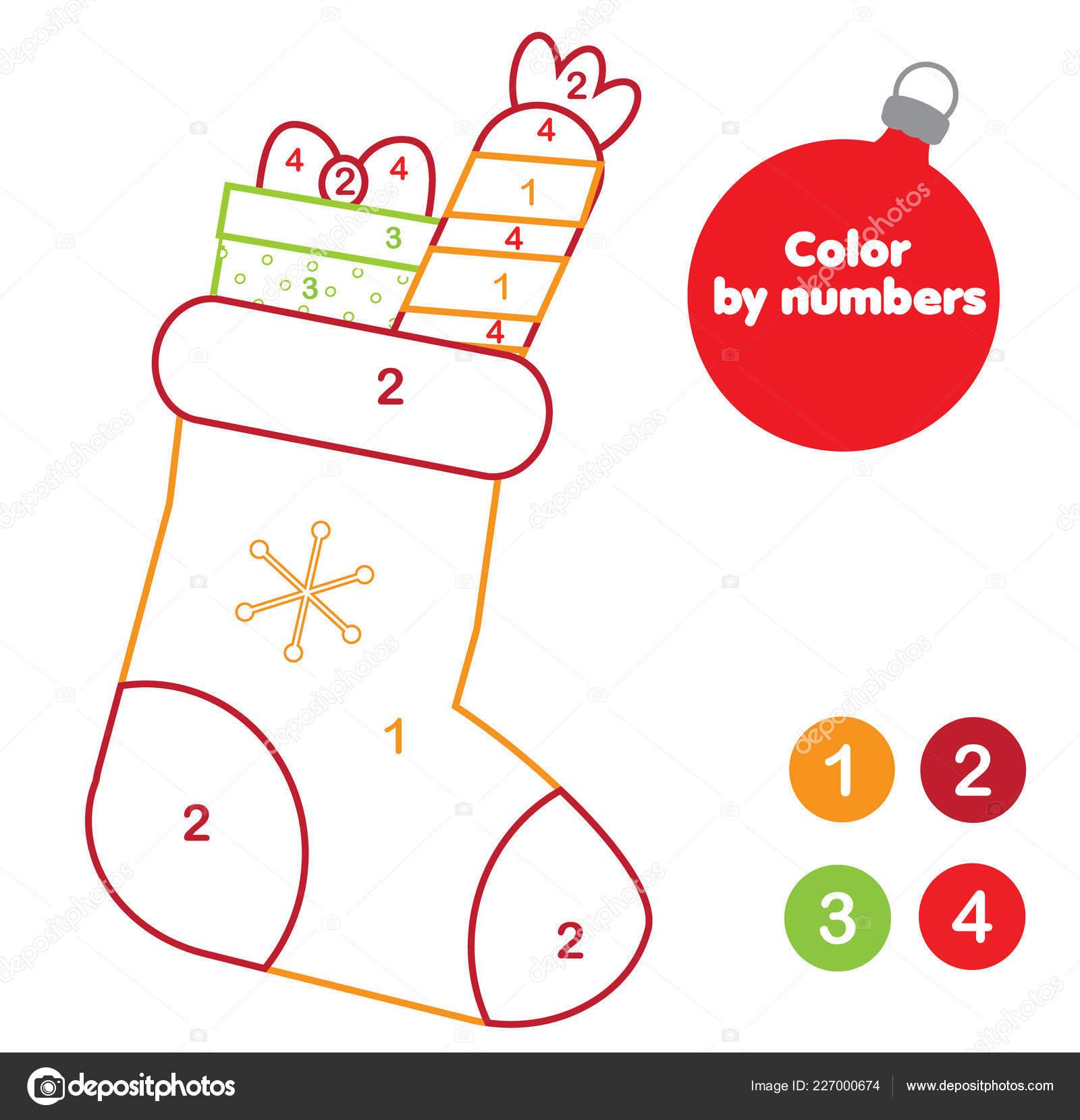 Página Para Colorear Navidad Juego Educativo Para Los Niños Media
