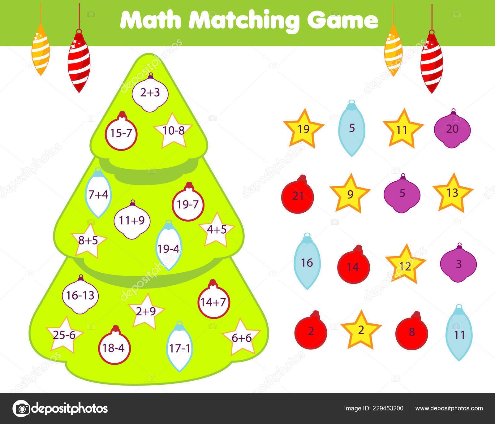Juego Educativo Matematicas Los Ninos Emparejar Objetos Con Numeros