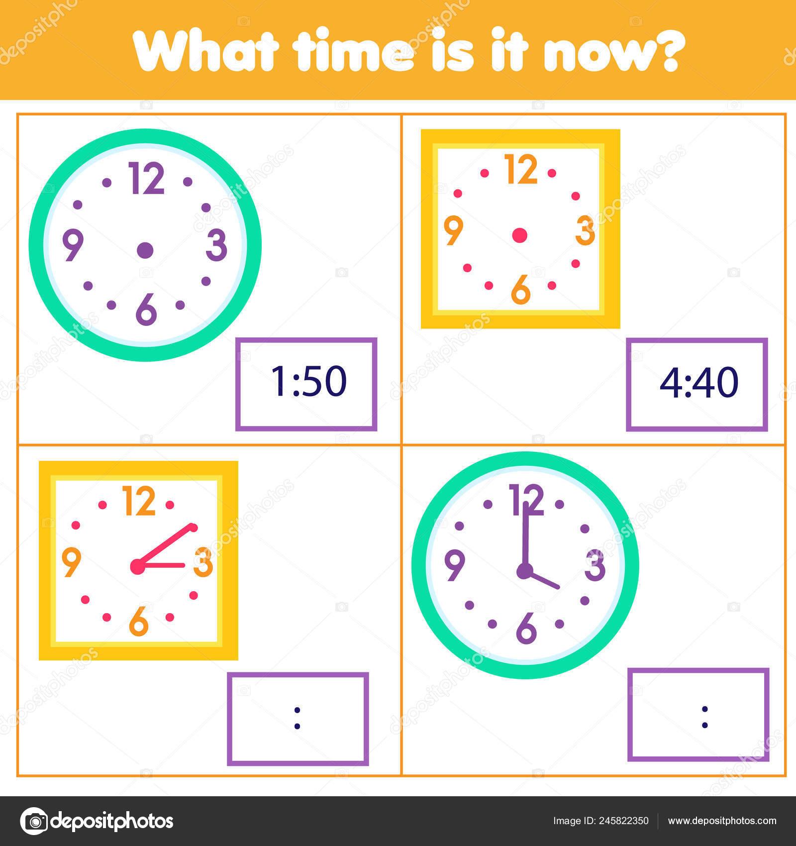 Juego Educativo Para Chilcren Dibujar Tiempo Reloj Aprender