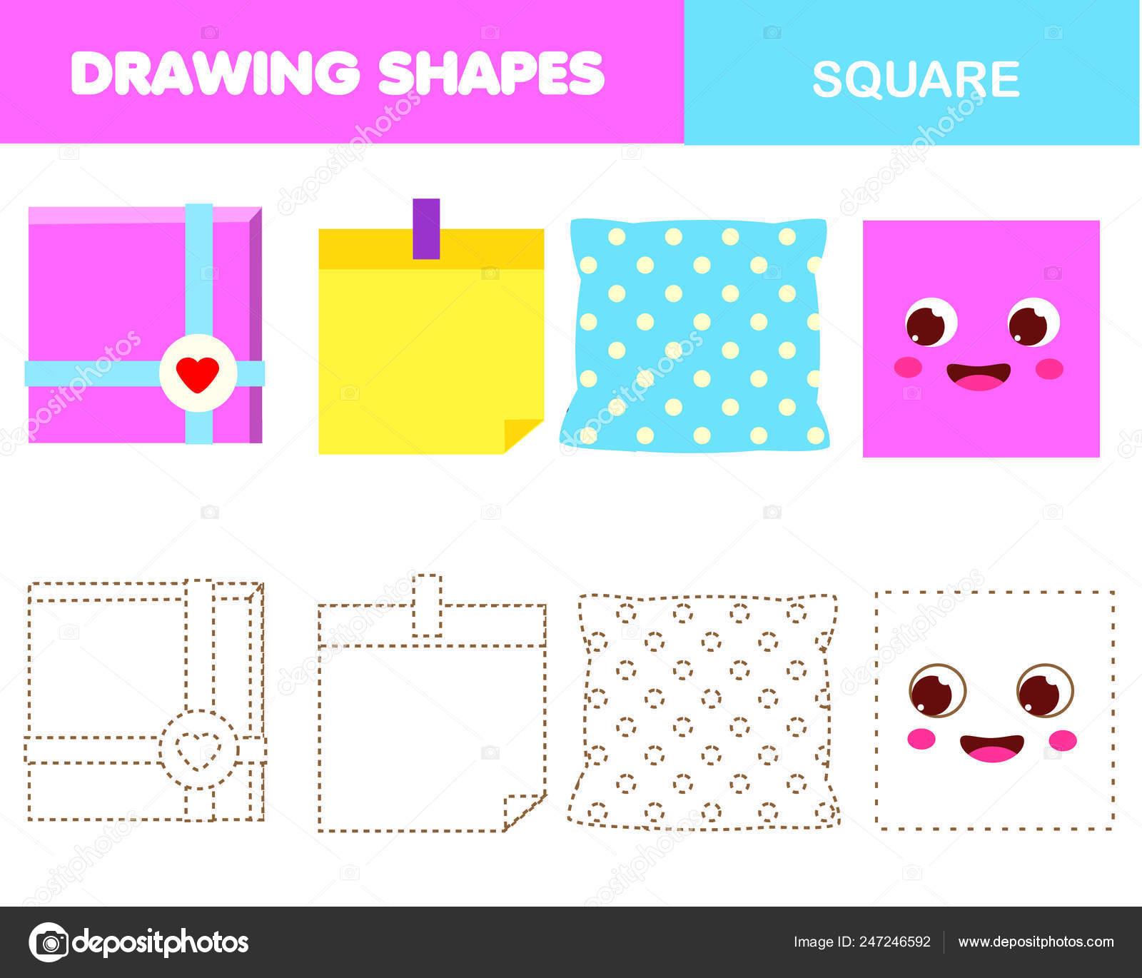 Aprender Las Formas Geométricas Para Niños Objetos Cuadrados