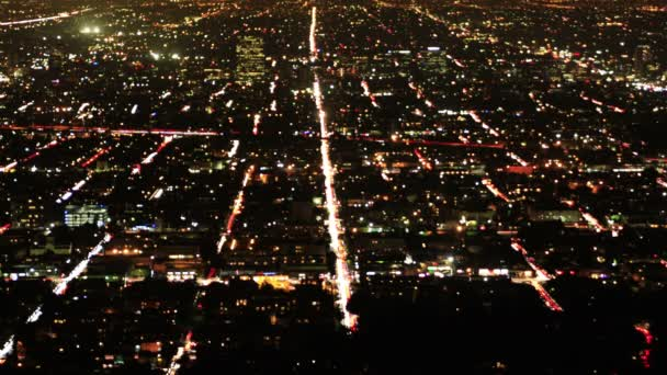 Los Angeles Night View Time Lapse Traffic