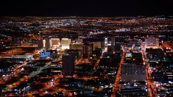 Las Vegas Zeitraffer Stadtbild Innenstadt bei Nacht in Nevada USA