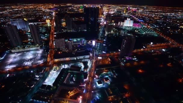 Las Vegas Time Lapse Cityscape Las Vegas Strip v noci v Nevadě USA