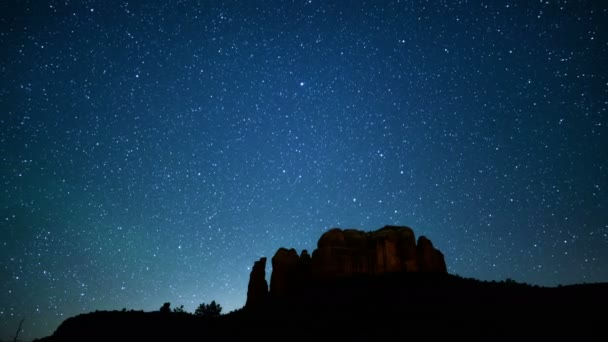 Sedona Milky Way Galaxy 04 Cathedral Rock Time Lapse Stars