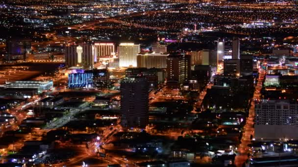 Las Vegas Time Lapse Cityscape Downtown at Night in Nevada USA