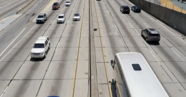 Freeway Traffic In Los Angeles Downtown