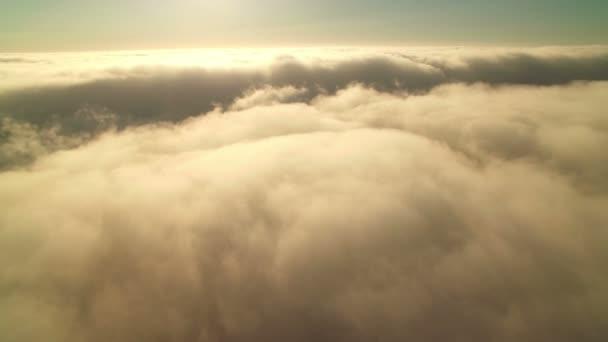 Moře mraků Nebeský západ slunce Letecký snímek mořské vrstvy vpřed
