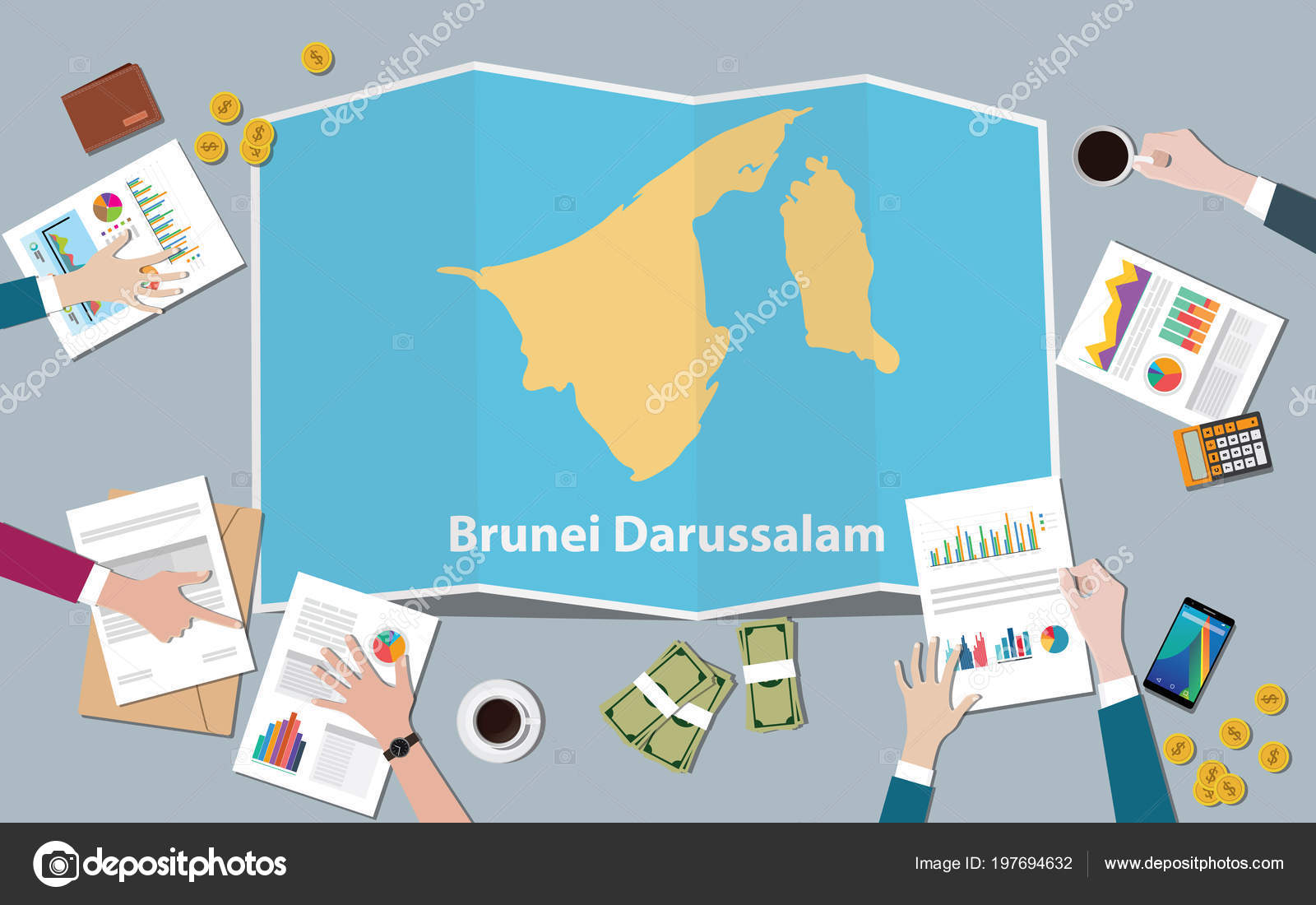 Brunei Darussalam Country Growth Nation Team Discuss Fold