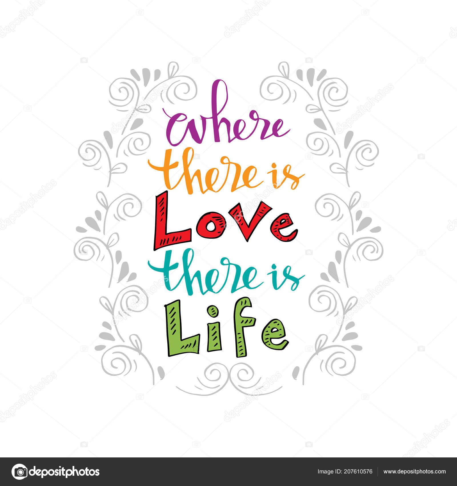 Donde Hay Amor Hay Vida Cartel Citas Inspiracionales