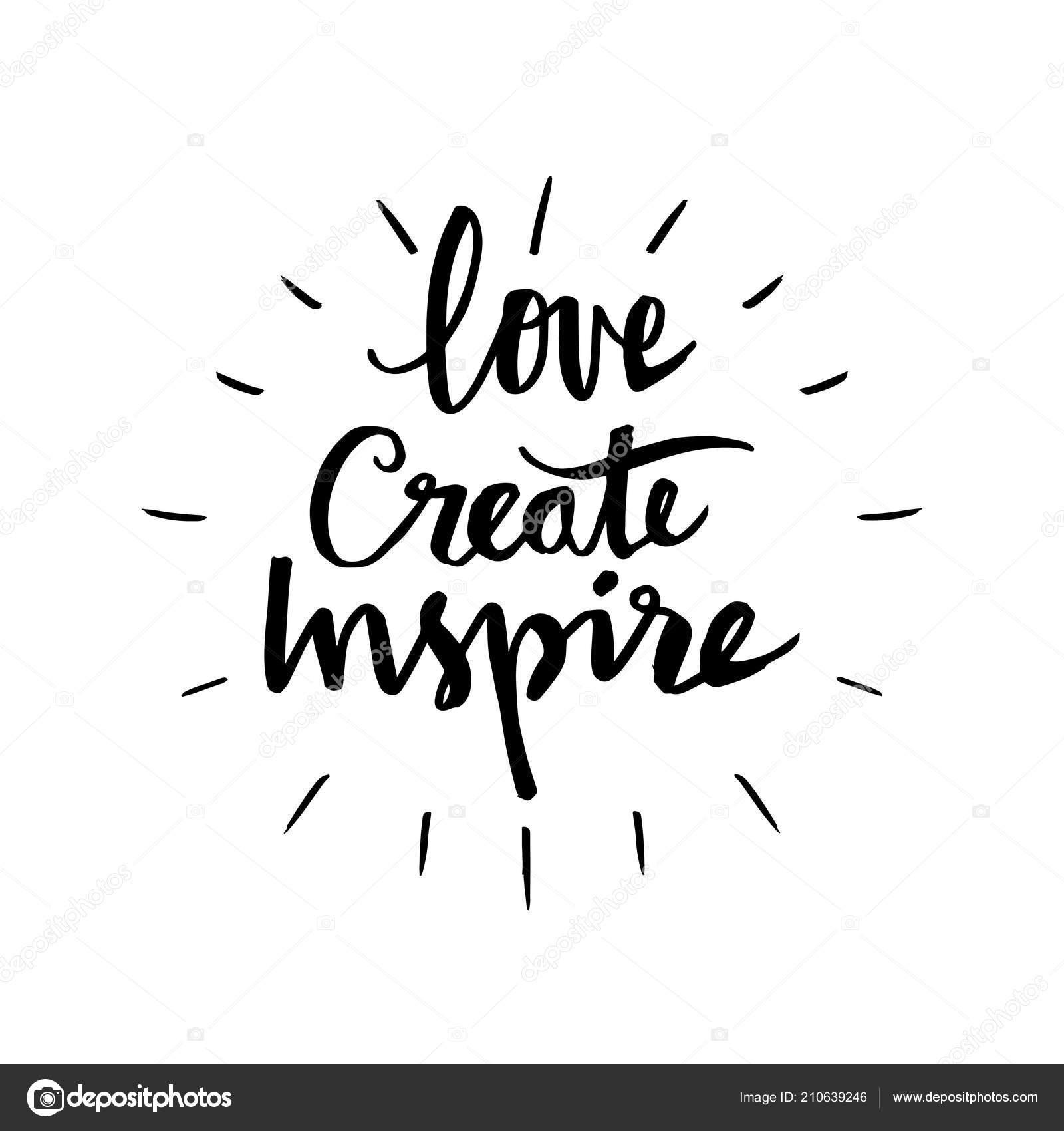 Créer Amour Inspire Citation Motivation Photographie